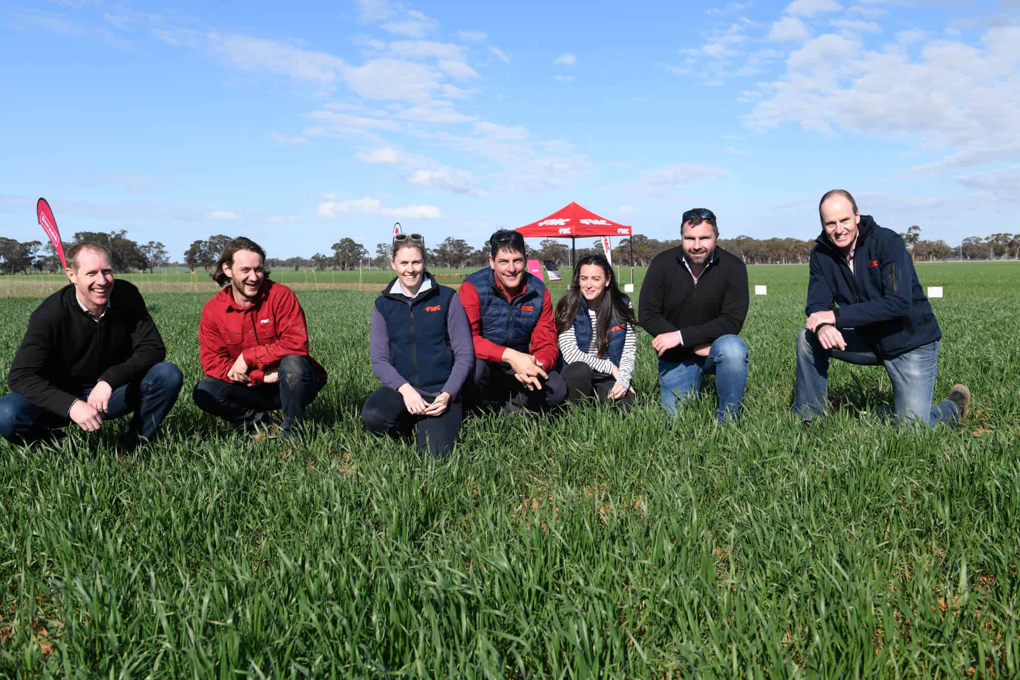 Members of the FMC team at a field day at the Temora Overwatch® Herbicide site in southern NSW